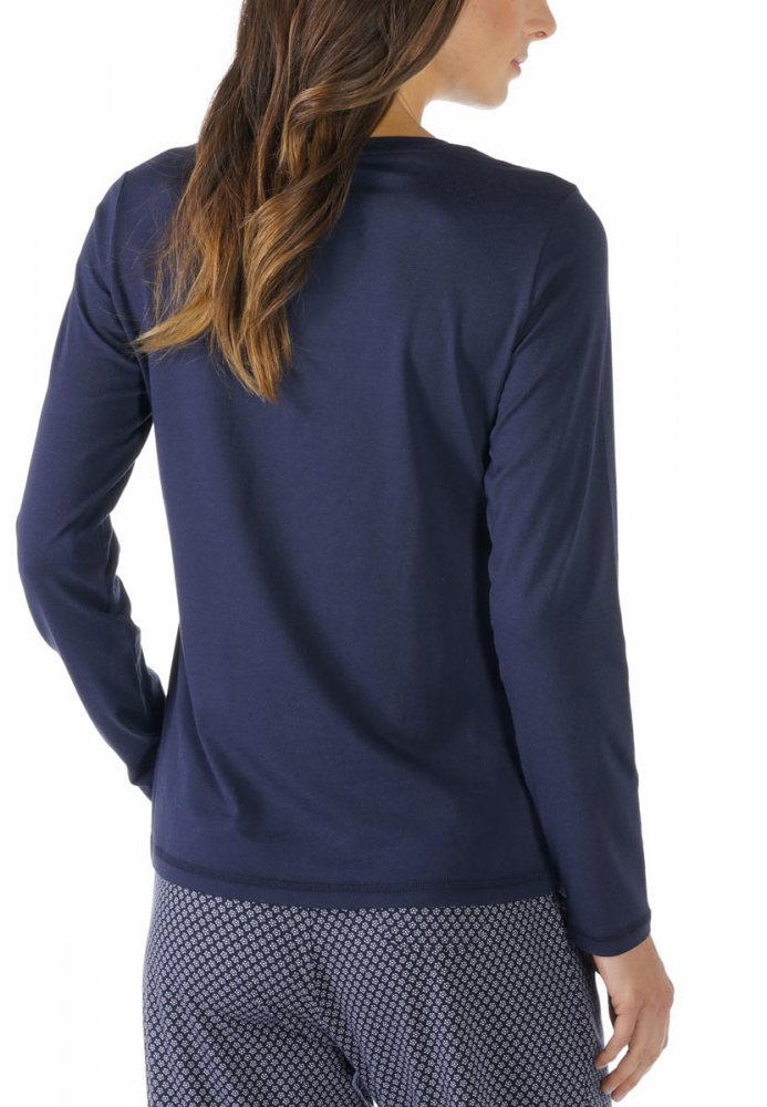Serie Night2day by Mey Shirt langarm Pyjamaoberteil Loungeshirt
