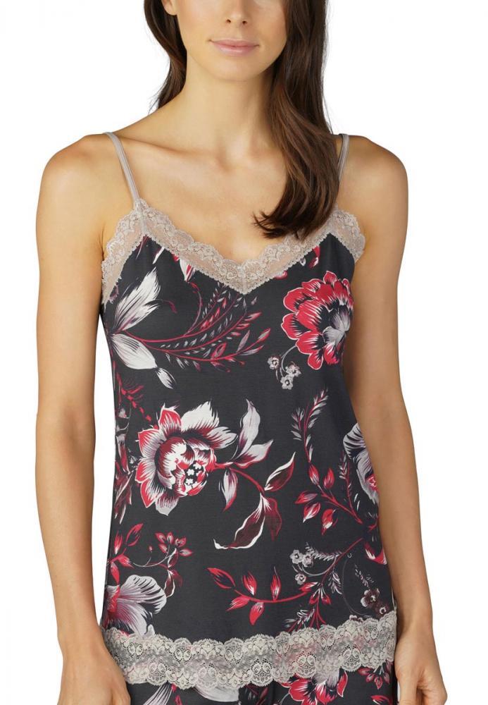 Fashion Top et bretelles à Carol fines de ourlet Mey Pyjamashirt 8I0wnvqOE0